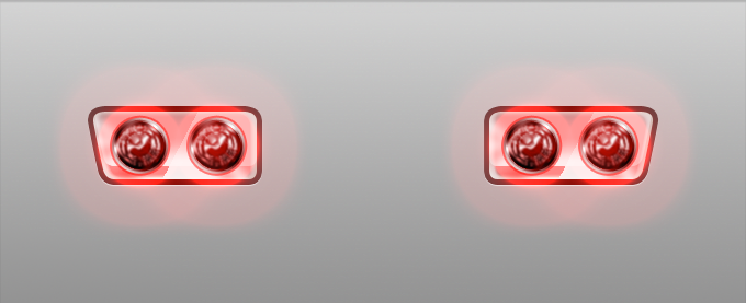 Brake Lights PSD, vector file.