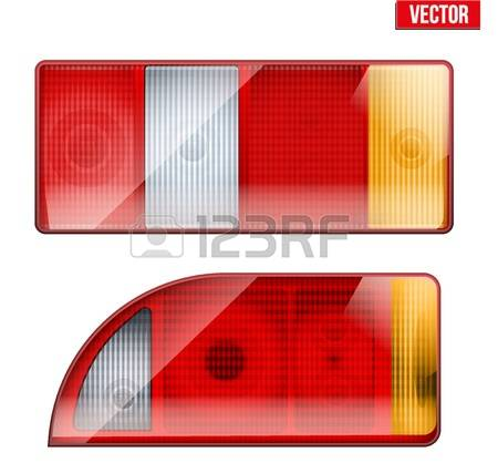 Clipart vector rear of car tail lights.