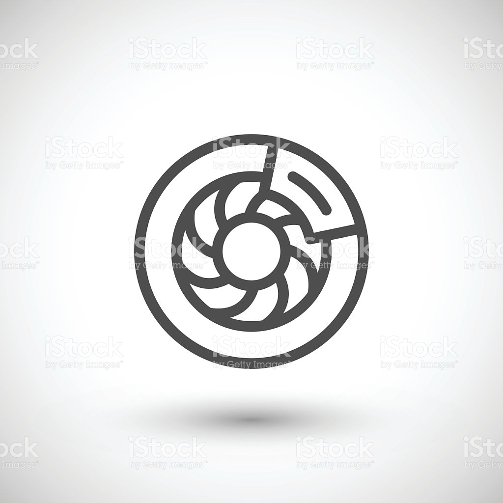 Disk Brake Line Icon stock vector art 628735702.