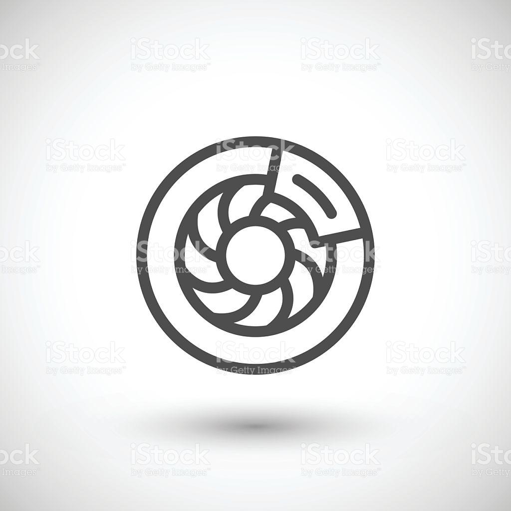 Disk Brake Line Icon stock vector art 628735702.