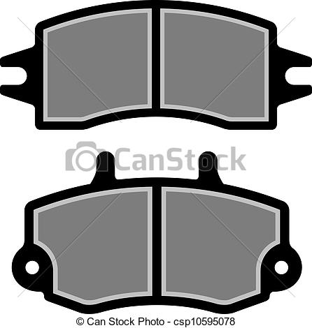Vectors Illustration of vector brake pad black silhouettes.