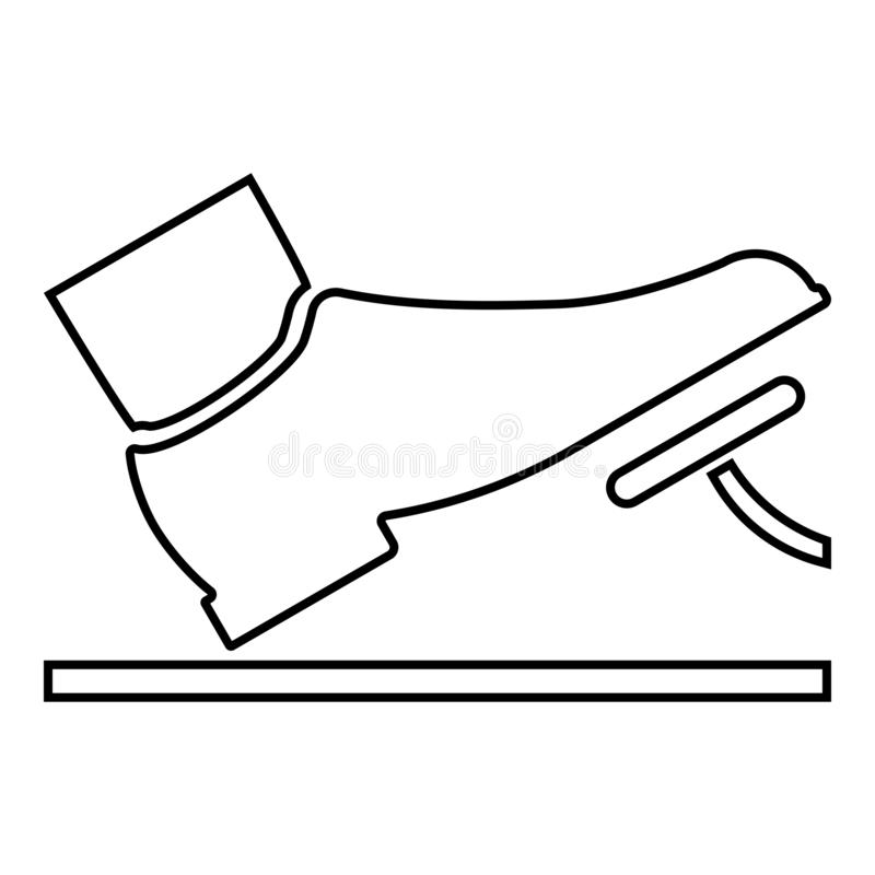 Gas Pedal Stock Illustrations.