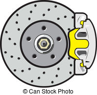 Vector Clipart of Disk brakes.