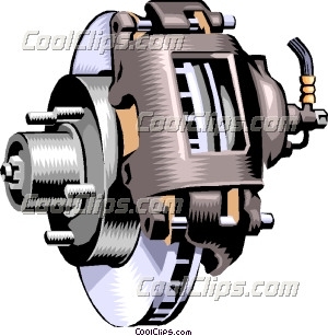 disk brakes, industry Clip Art.