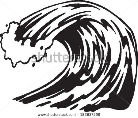 Braking wave clipart -...