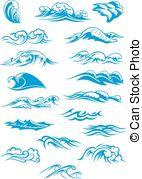 Breaking wave Clip Art Vector Graphics. 470 Breaking wave EPS.