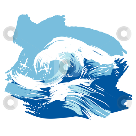 Splash water waves clipart.