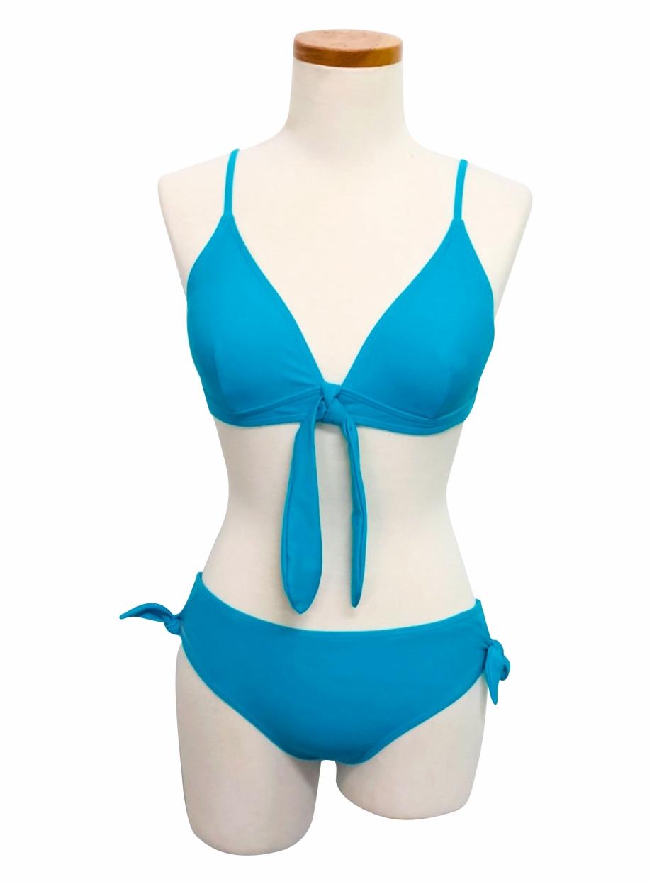 Womens Tie Front Bralette Bikini Swimsuit Top.