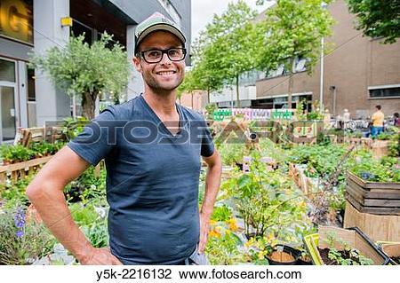 Stock Photo of Tilburg, Netherlands. Bram is an Urban Gardener.