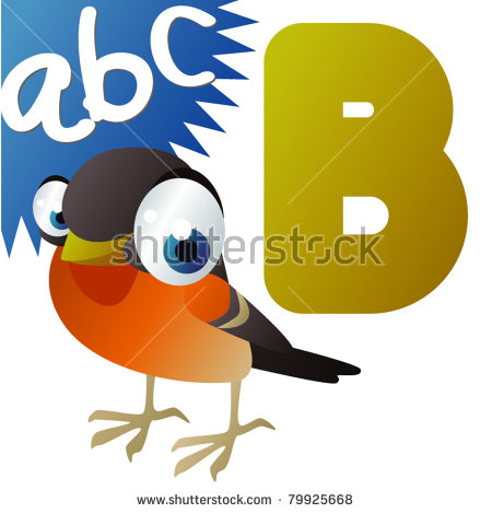 B Is For Brambling Stock Vector Illustration 79925668 : Shutterstock.