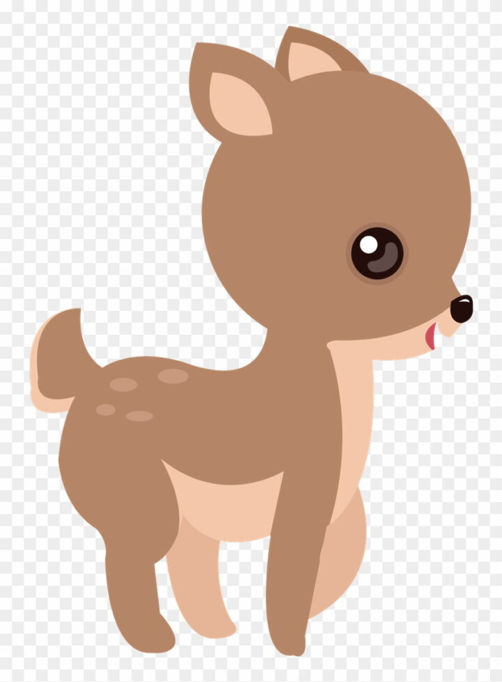 Branca De Neve Cute Veado Animal Baby Deer Clip Art Image.
