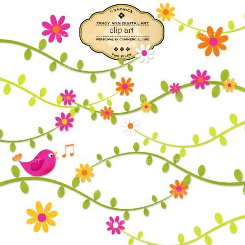 Flower Branch Clipart.