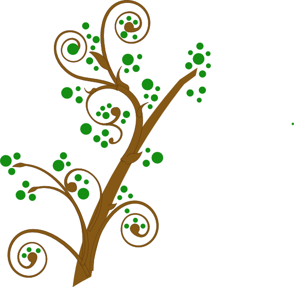 Green branch clip art.