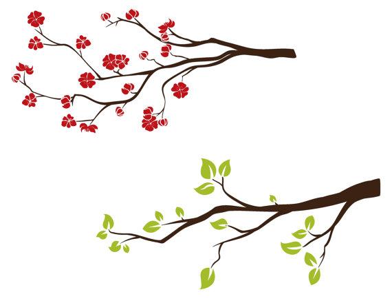Spring clip art branch.