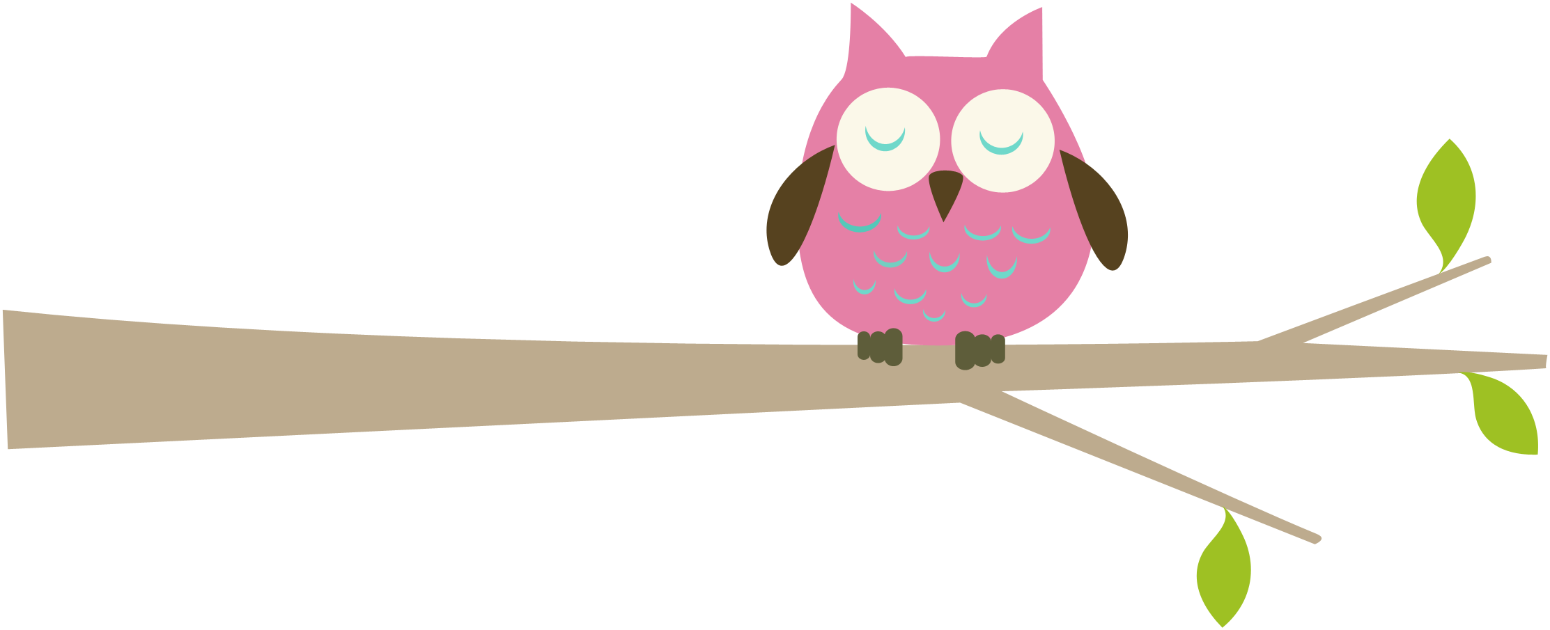 Free owl on branch clipart.