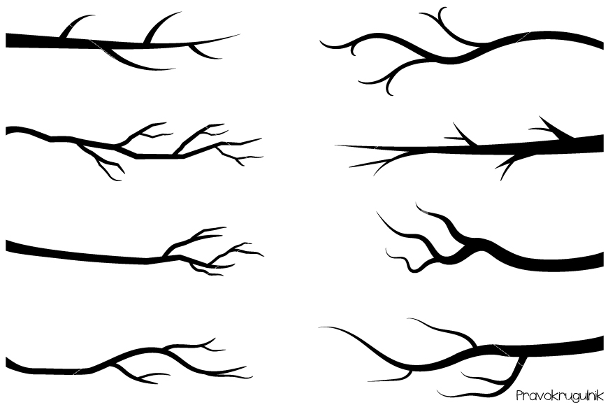 Tree branch clipart black and white » Clipart Station.