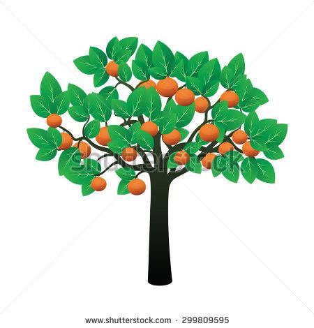 Vector Abstrak Cocoa Tree Stock Vector 484700047.