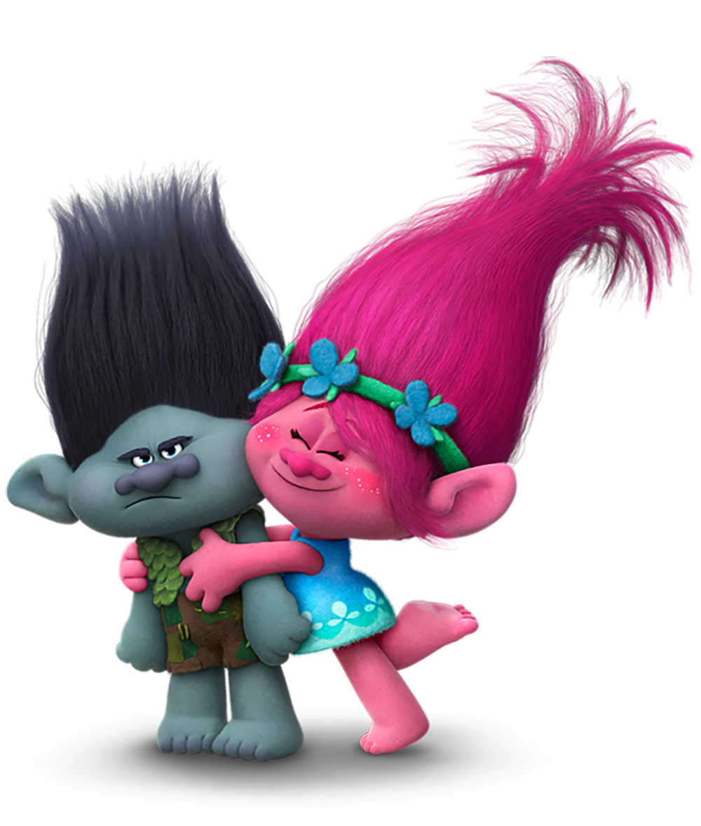 Trolls Branch and Poppy Transparent PNG Image.