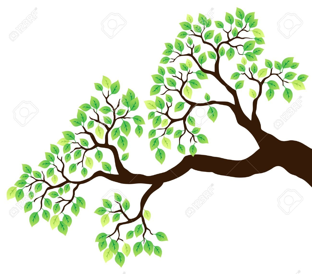 Tree branch with leaves clipart 8 » Clipart Portal.