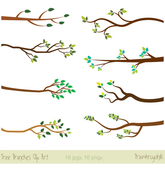 Tree branches clipart, Tree branch clip art, Bare branch clipart.