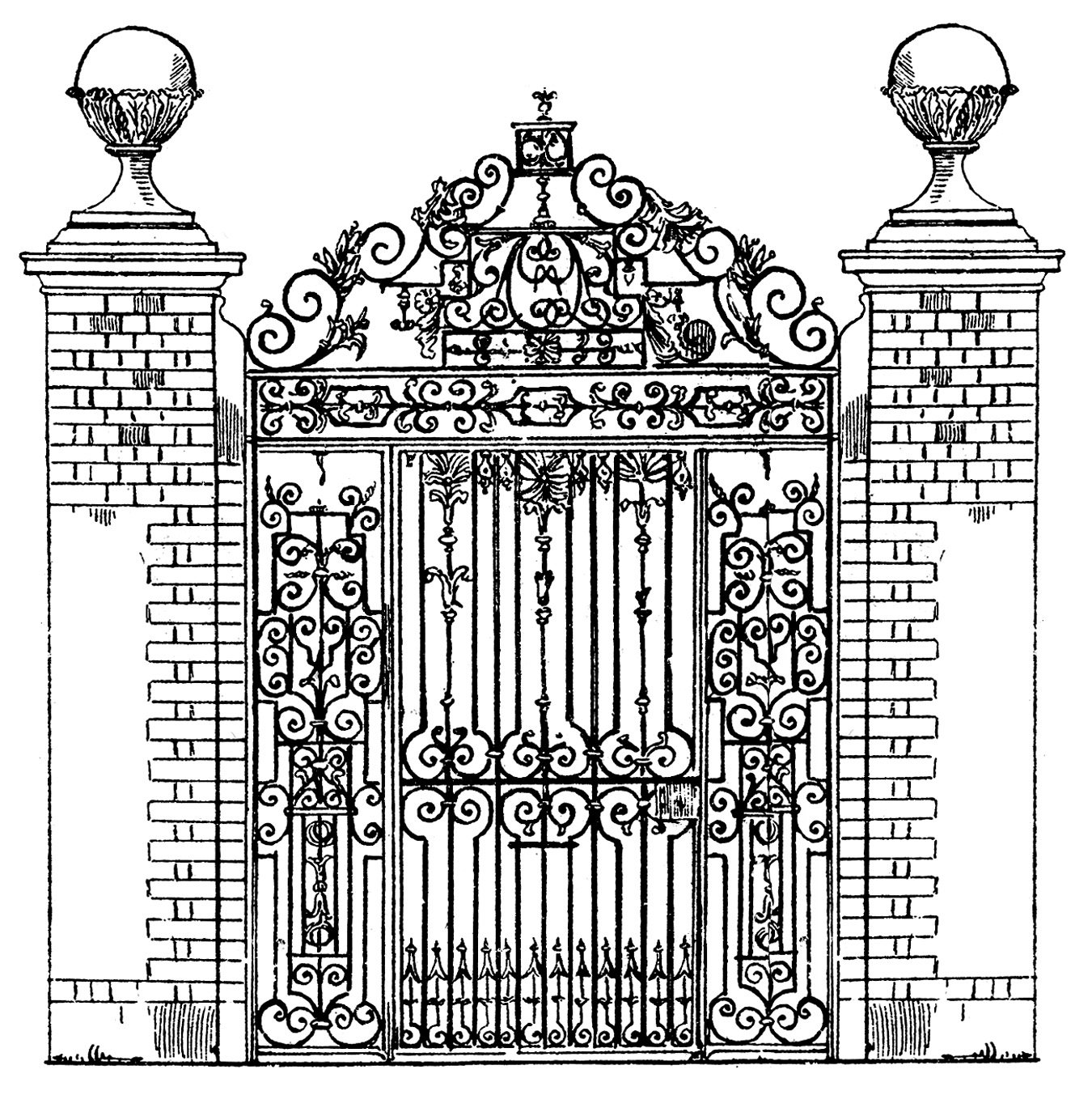 Iron Fence Clipart.