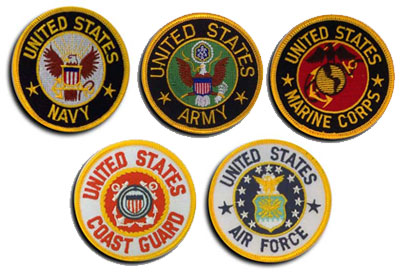 Military branches clipart.