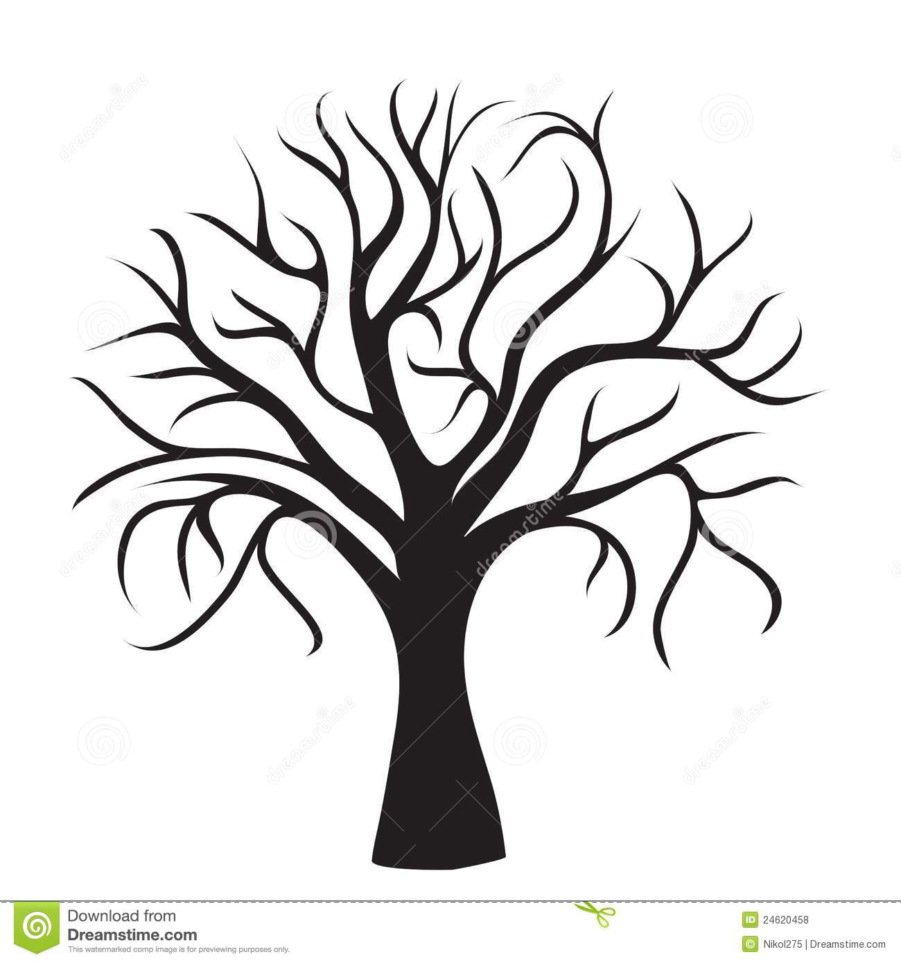Tree Silhouettes Royalty Free Cliparts, Vectors, And Stock.