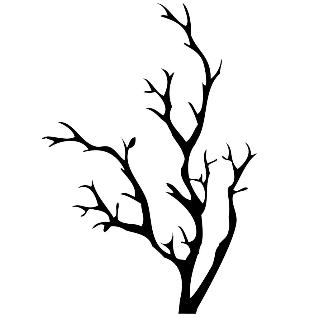 Tree Branch With Leaves Coloring Pages