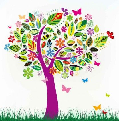 Branched Out Tree Clip Art.