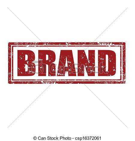 Clip Art Vector of Brand.