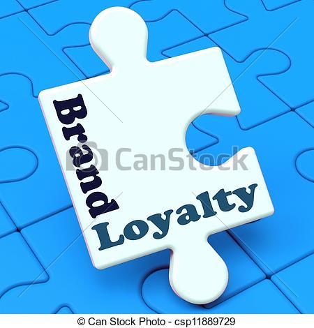 Clip Art of Brand Loyalty Shows Customer Confidence Preferred.