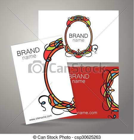 Clip Art Vector of brand name frame logo.