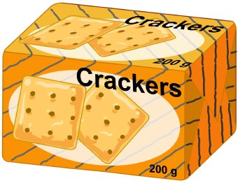 Brand name box of crackers clipart free.