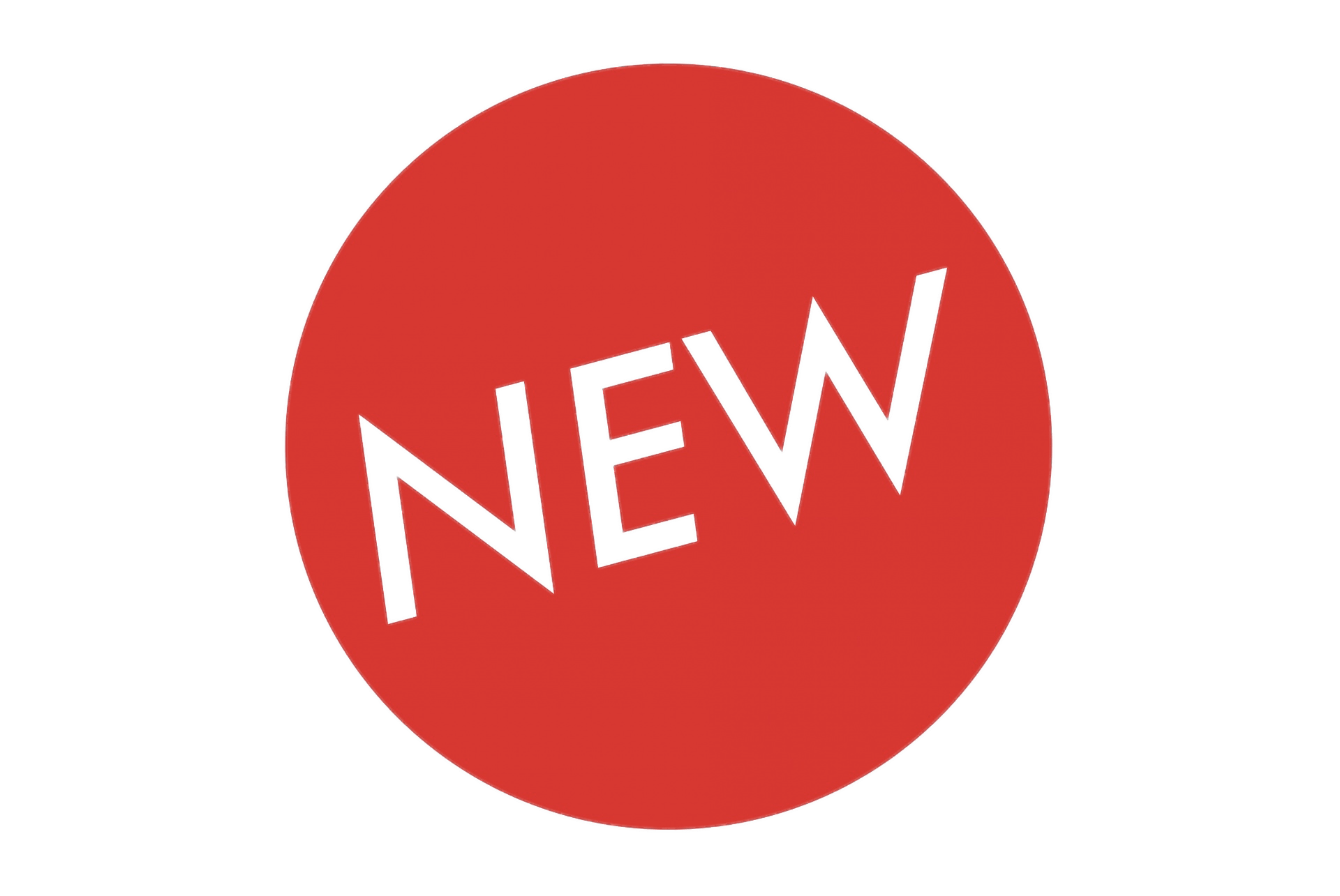 Large New Circle Label transparent PNG.