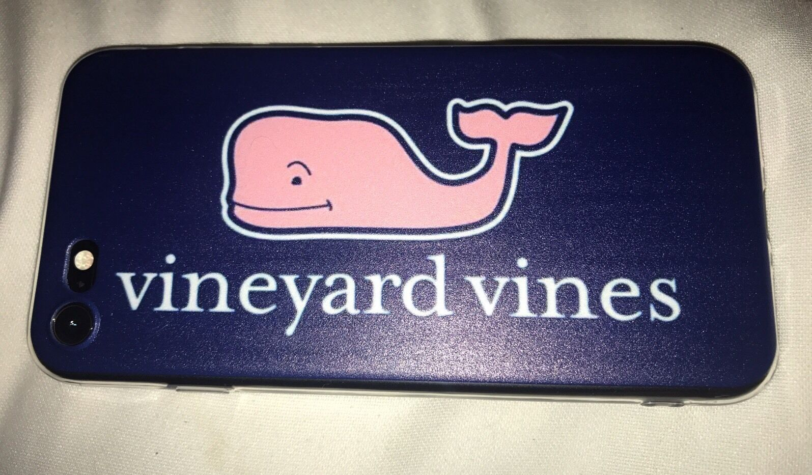 Vineyard Vines Phone Case Soft Shell iPhone 7 Blue Pink Whale Brand New 7.