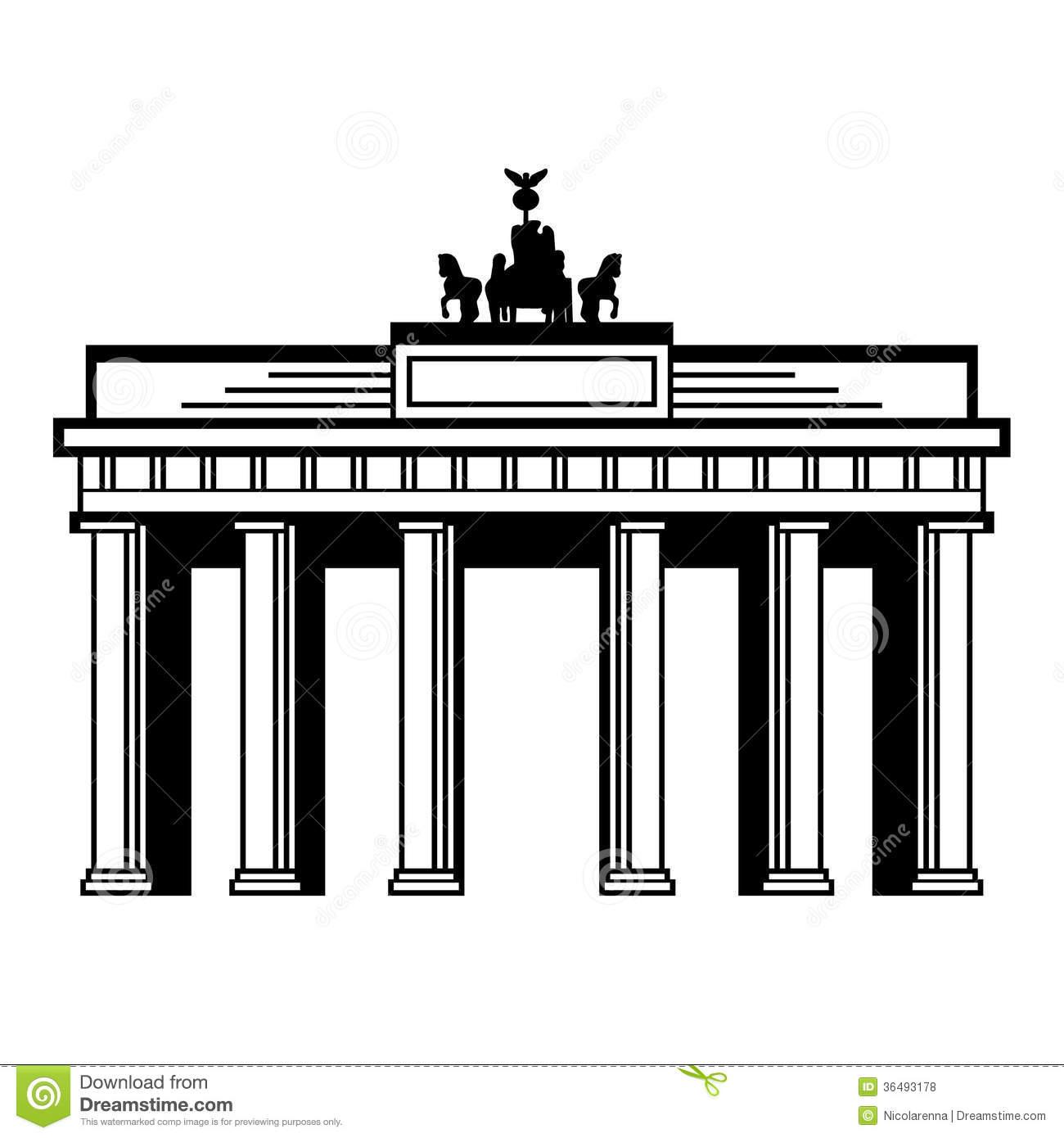 Brandenburg gate clipart.