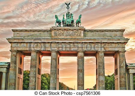 Stock Image of Brandenburg gate in Berlin csp7561306.