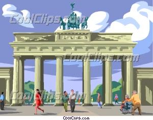 Brandenburg gate Clip Art.