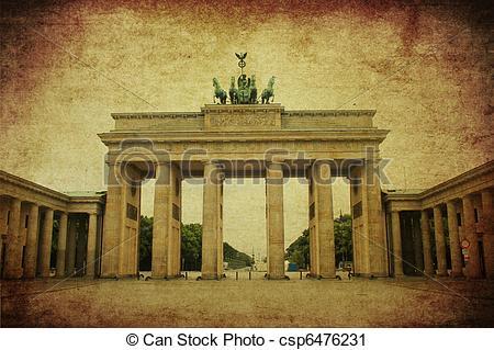 Clipart of Brandenburg Gate , berlin.