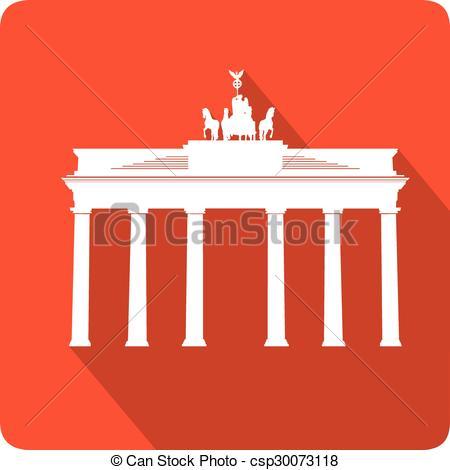 Vector Clip Art of Brandenburg Gate, vector illustration.