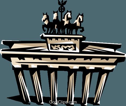 Brandenburg Gate Royalty Free Vector Clip Art illustration.