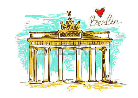 465 The Brandenburg Gate Stock Illustrations, Cliparts And Royalty.