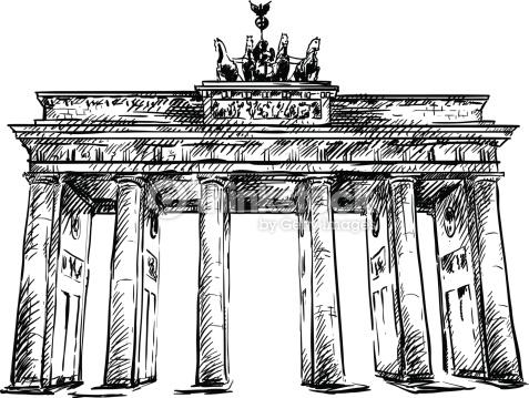 Brandenburg Gate Hand Drawn Vector Sketch Vector Art.