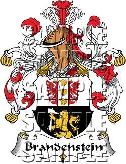 Brandenstein Family Crest apparel, Brandenstein Coat of Arms gifts.