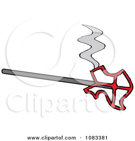 Clipart Hot Texas Shaped Branding Iron.