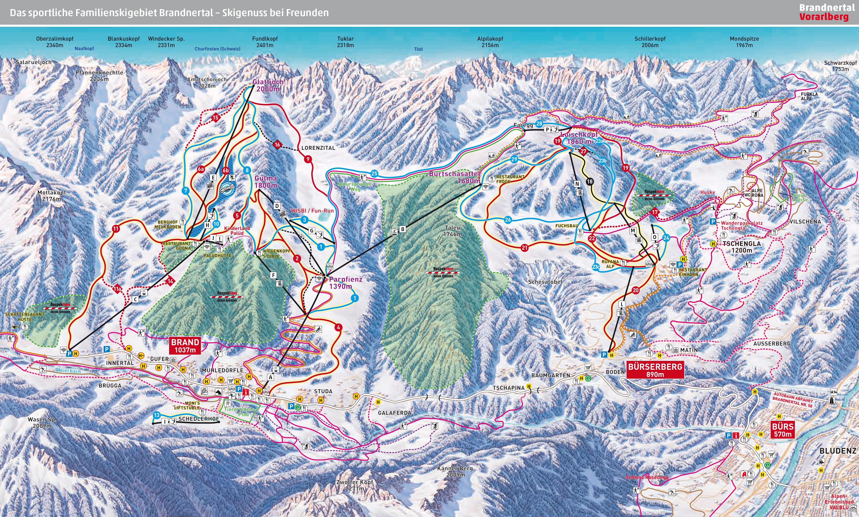 Skiresort Brandnertal Skiholiday Vorarlberg.