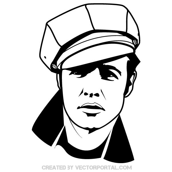 Marlon Brando Vector Image.