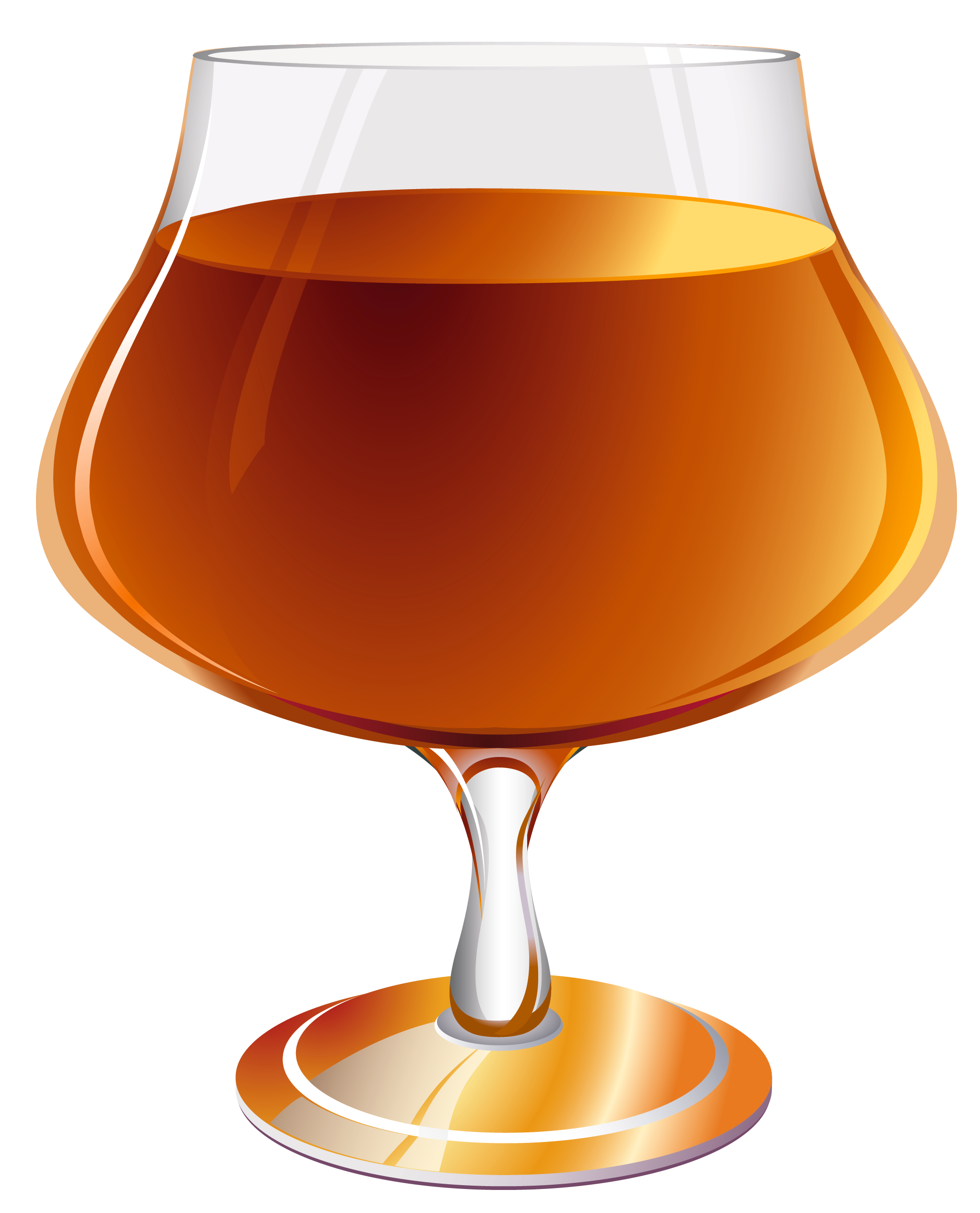Brandy Snifter PNG Clipart Picture.