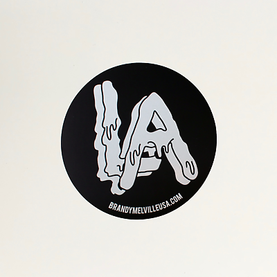 Brandy Melville Los Angeles LA City Black and White Sticker Decal.