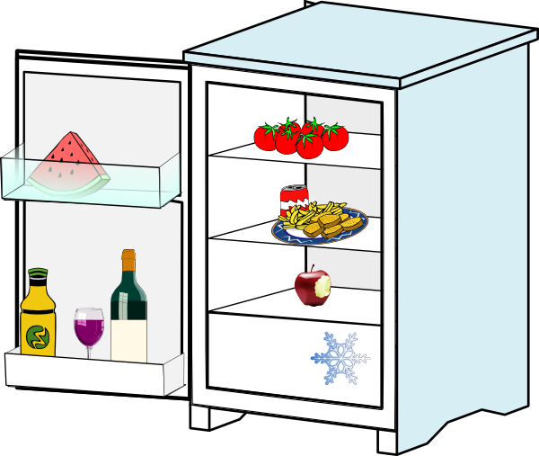 Fridge clip art free.